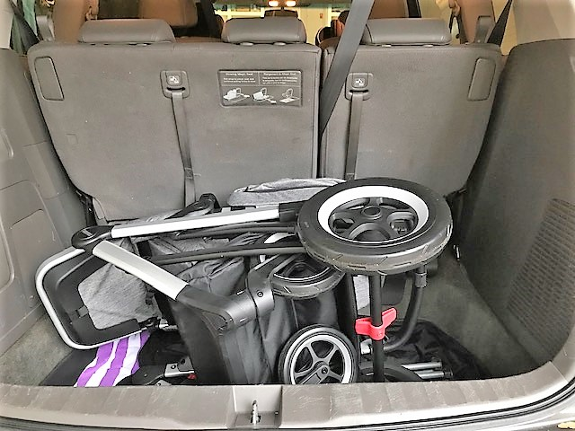 Thule sleek stroller easily fits in minivan